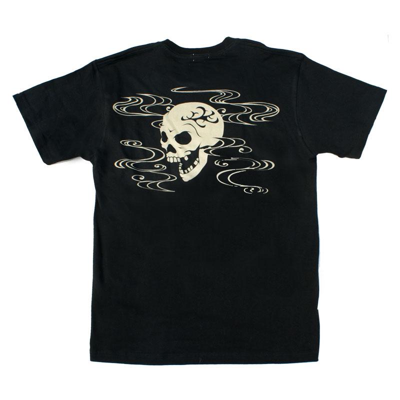 和柄 江戸てん 抜染Tシャツ「髑髏」(黒)::1402【バッグ・小物・ブランド雑貨】記念日向けギフトの通販サイト「バースデープレス」