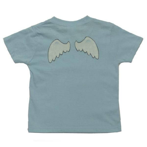 オリジナル子供Tシャツ 「天使の羽根」(ブルー)