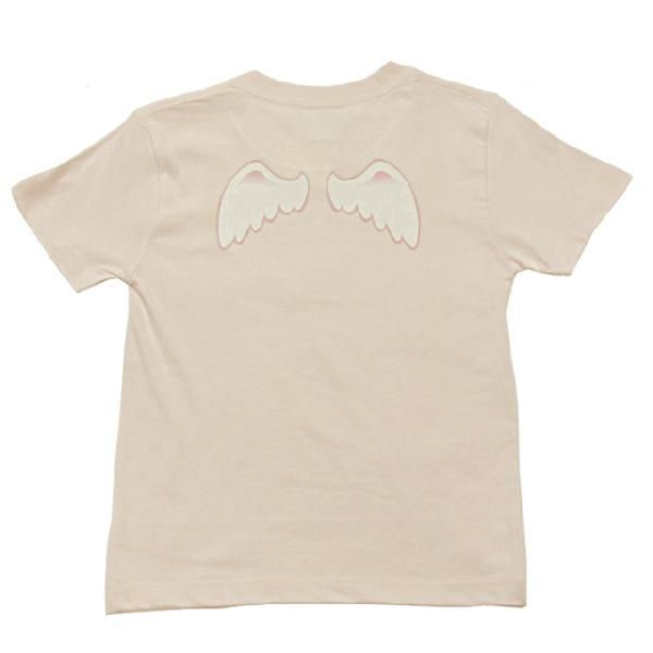 オリジナル子供Tシャツ 「天使の羽根」(ピンク)