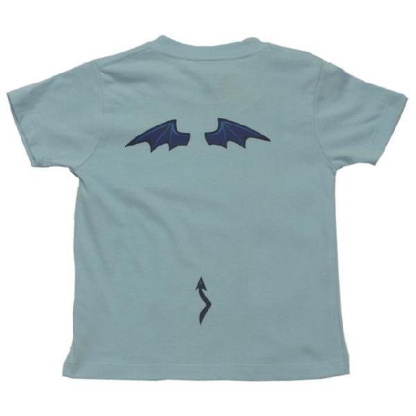 オリジナル子供Tシャツ 「アクマの羽根」(ブルー)