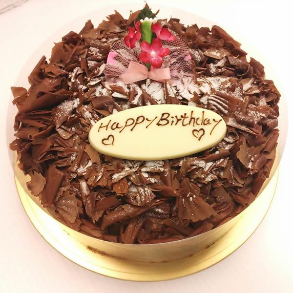チョコレートケーキ5号(直径15cm)【デコレーション チョコレート ケーキ スイーツ 誕生日 バースデー プレゼント 贈り物 ギフト お祝い】の画像1枚目