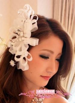セレブ系◆HAA-0069ホリゾンタル*大きなリーフ*小花のパールヘッドドレスアクセサリー◆ウェディング♪パーティに♪結婚式に♪婚活に♪::1411【レディースファッション】記念日向けギフトの通販サイト「バースデープレス」