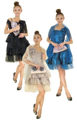 セレブ系◆!即納!◆ストール&タフタ素材コサージュ付きワンピースドレス◆結婚式、フォーマル::1411【レディースファッション】記念日向けギフトの通販サイト「バースデープレス」