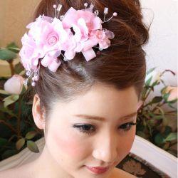 セレブ系◆HAA-0159*ピンクのお花*ラインストーン&パールヘッドドレス/アクセサリー◆ウェディング♪パーティに♪結婚式に♪婚活に♪::1411【レディースファッション】記念日向けギフトの通販サイト「バースデープレス」