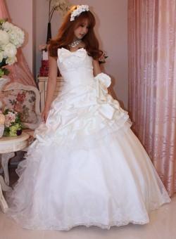 セレブ◆送料無料◆KA-0599ラブリーホワイト *リボンがポイント*ウェディングドレス◆結婚式::1411【レディースファッション】記念日向けギフトの通販サイト「バースデープレス」
