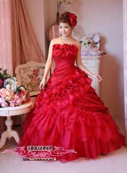 セレブ系◆KA-0820【送料無料】流れる薔薇の花に鮮やかなプリンセスライン* 結婚式ドレス[編み上げ]::1411【レディースファッション】記念日向けギフトの通販サイト「バースデープレス」