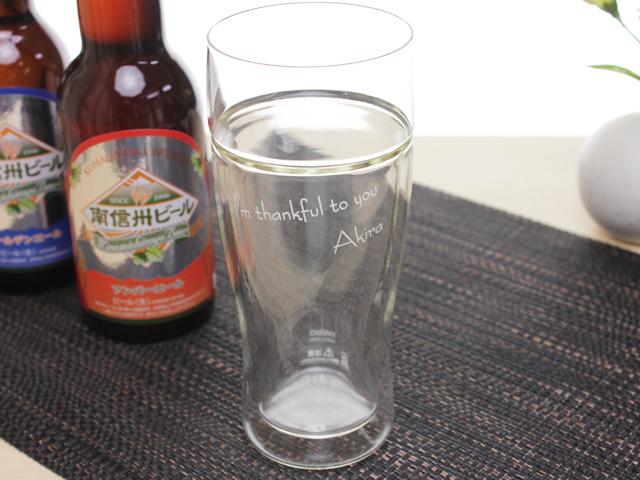 HARIOツインビアグラス380 【食器 酒器 誕生日 バースデー プレゼント 贈り物 ギフト お祝い】の画像1枚目