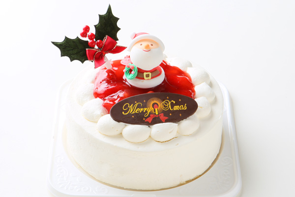 【クリスマスケーキ2016 12月1日~お届け可能】☆ご予約受付中!【4号サイズ(直径12cm)約2〜3人分】北海道十勝の生クリームをたっぷり使用したイチゴ生クリームクリスマスケーキ!の画像1枚目