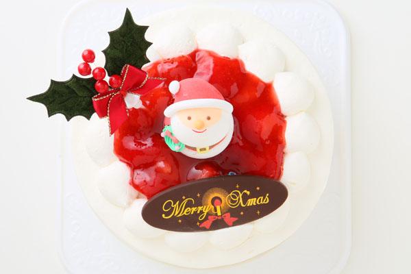 【クリスマスケーキ2016 12月1日~お届け可能】☆ご予約受付中!【7号サイズ(直径21cm)約8〜10人分】北海道十勝の生クリームをたっぷり使用したイチゴ生クリームクリスマスケーキ!の画像2枚目