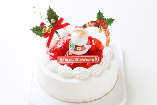 【クリスマスケーキ2016 12月1日~お届け可能】乳製品除去 乳製品アレルギー対応ケーキ☆ご予約受付中!【5号サイズ(直径15cm)約4〜5人分】の画像1枚目