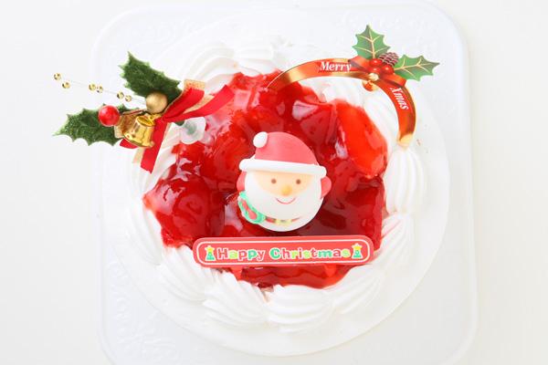 【クリスマスケーキ2016 12月1日~お届け可能】乳製品除去 乳製品アレルギー対応ケーキ☆ご予約受付中!【5号サイズ(直径15cm)約4〜5人分】の画像2枚目