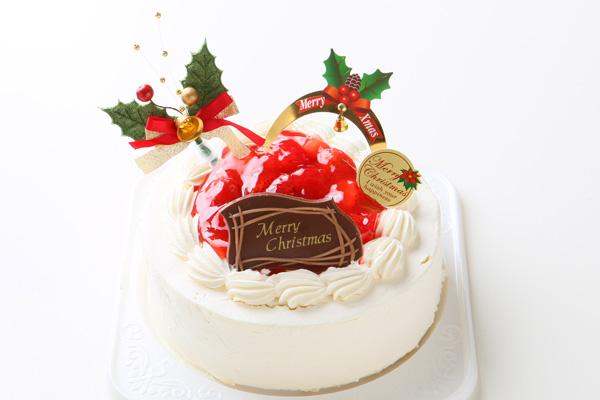 【クリスマスケーキ2016 12月1日~お届け可能】卵除去 卵を使用していないクリスマスケーキ 6号サイズ                             の画像1枚目
