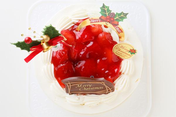 【クリスマスケーキ2016 12月1日~お届け可能】卵除去 卵を使用していないクリスマスケーキ 6号サイズ                             の画像2枚目