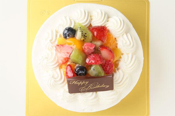 バニラカスタード風味のフルーツアイスデコレーションケーキ 5号 15cmの画像2枚目
