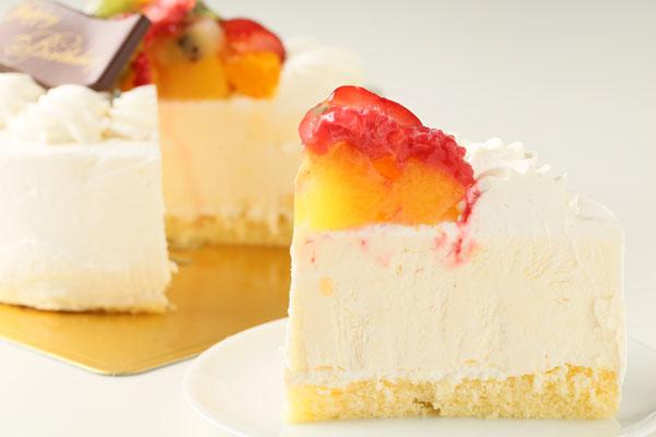 バニラカスタード風味のフルーツアイスデコレーションケーキ 5号 15cmの画像5枚目