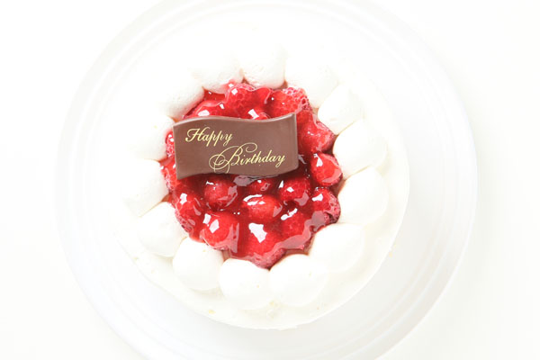 【ポイント10倍】季節限定!ラズベリーのバースデーケーキ4号(約12cm)の画像2枚目