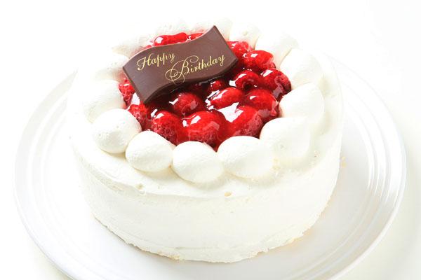 【ポイント10倍】季節限定!ラズベリーのバースデーケーキ4号(約12cm)の画像1枚目