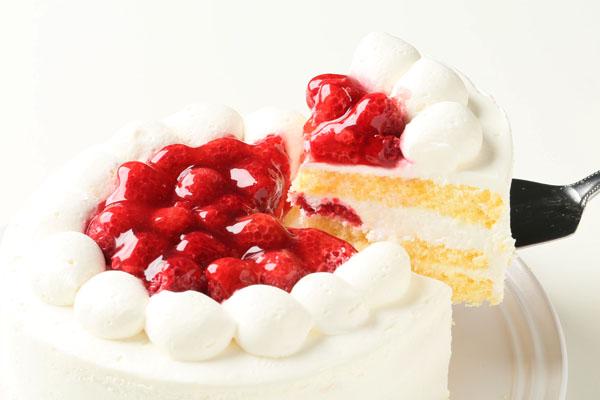 【ポイント10倍】季節限定!ラズベリーのバースデーケーキ6号(約18cm)の画像3枚目