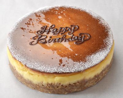 キャラメルチーズケーキ 18cm【誕生日 デコ バースデー ケーキ】の画像1枚目