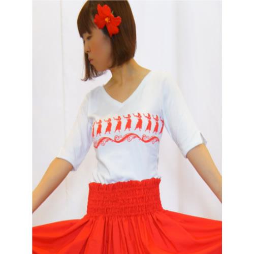 VネックTシャツ【ファッション レディース おしゃれ ハワイアン 誕生日 バースデー プレゼント 贈り物 ギフト お祝い】