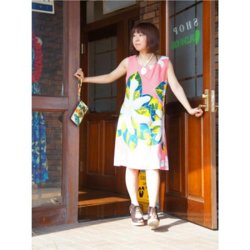 Aラインワンピース【ファッション レディース おしゃれ ハワイアン 誕生日 バースデー プレゼント 贈り物 ギフト お祝い】の画像1枚目