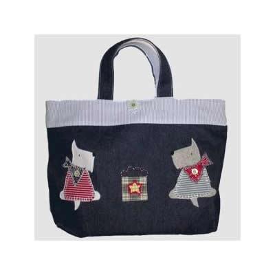 KAZUオリジナル・レッスンバッグ(2匹のおすわりテリア)【バッグ ハンドメイド 子供 誕生日 バースデー プレゼント 贈り物 ギフト お祝い】の画像1枚目