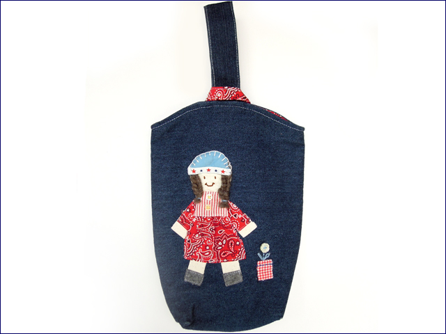 KAZUオリジナル・シューズバッグ(女の子)【バッグ ハンドメイド 子供 誕生日 バースデー プレゼント 贈り物 ギフト お祝い】の画像1枚目