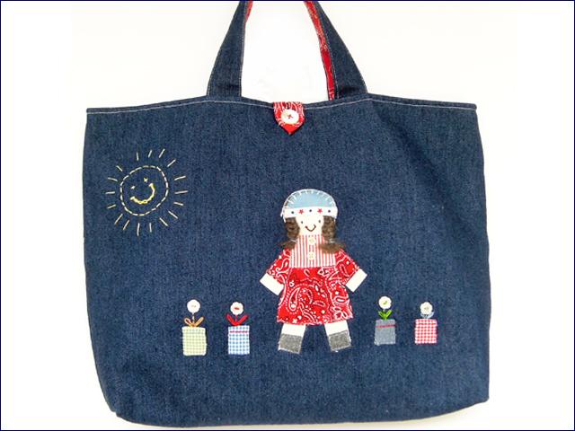 KAZUオリジナル・レッスンバッグ(女の子)【バッグ ハンドメイド 子供 誕生日 バースデー プレゼント 贈り物 ギフト お祝い】