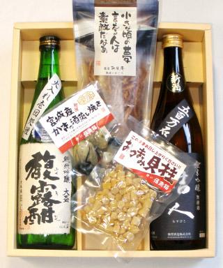 日本酒720ml瓶2本&こだわりのおつまみセット(T-1018)【お酒 アルコール 誕生日 バースデー プレゼント 贈り物 ギフト お祝い】【水・ソフトドリンク】記念日向けギフトの通販サイト「バースデープレス」