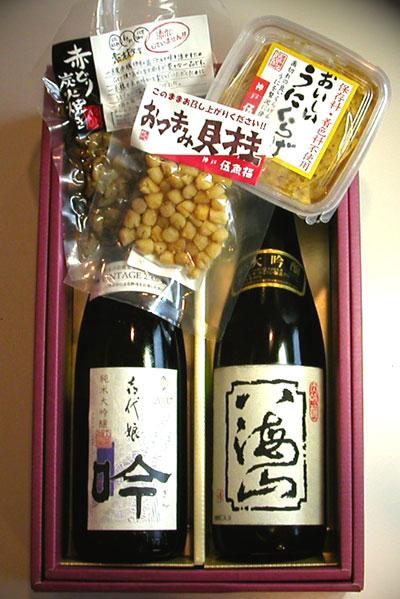 日本酒720ml瓶2本&こだわりのおつまみセット(T-1012)【お酒 アルコール 誕生日 バースデー プレゼント 贈り物 ギフト お祝い】【水・ソフトドリンク】記念日向けギフトの通販サイト「バースデープレス」