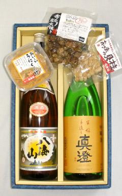 日本酒1升瓶2本&こだわりのおつまみセット(T-1007)【お酒 アルコール 誕生日 バースデー プレゼント 贈り物 ギフト お祝い】【水・ソフトドリンク】記念日向けギフトの通販サイト「バースデープレス」