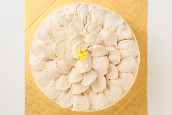 ローシュガー・グルテンフリー イチゴのショートケーキフラワー 5号 15cmの画像2枚目