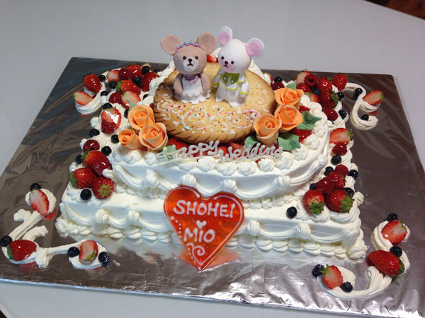 【東京 横浜市、みなとみらい近辺配送】【送料無料】【パーティ用 ウエディング用ケーキの生ケーキを宅配】【40×60cm】グランドピアノの画像7枚目