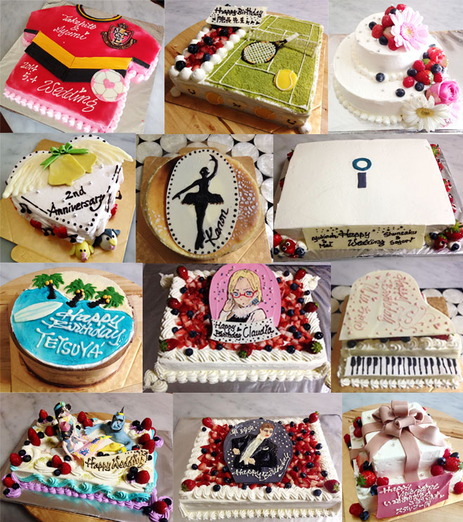 ケーキ制作サンプル一覧