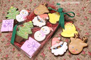 クリスマスカラーセット【アイシングクッキークッキー 焼き菓子 クリスマス X'mas 誕生日 バースデー プレゼント 贈り物 ギフト お祝い】の画像1枚目