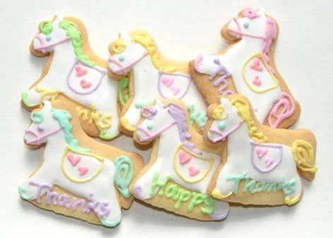 ポニークッキー【アイシング クッキー デコ かわいい 焼き菓子 誕生日 バースデー プレゼント 贈り物 ギフト お祝い】の画像1枚目