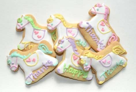ポニークッキー【アイシング クッキー デコ かわいい 焼き菓子 誕生日 バースデー プレゼント 贈り物 ギフト お祝い】の画像2枚目