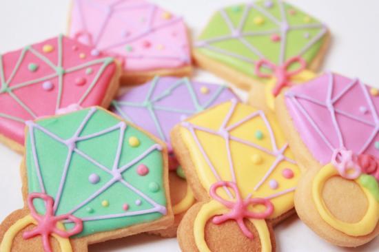 指輪クッキー【アイシング クッキー デコ かわいい 焼き菓子 誕生日 バースデー プレゼント 贈り物 ギフト お祝い】の画像1枚目