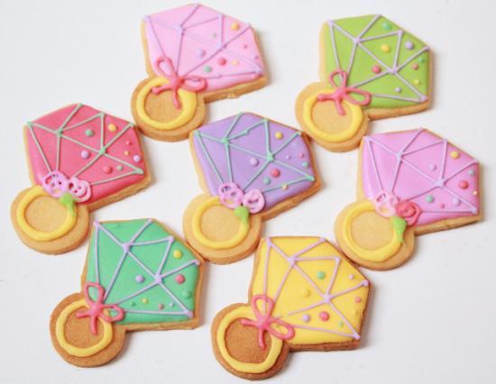 指輪クッキー【アイシング クッキー デコ かわいい 焼き菓子 誕生日 バースデー プレゼント 贈り物 ギフト お祝い】の画像2枚目
