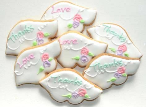 天使の羽根クッキー【アイシング クッキー デコ かわいい 焼き菓子 誕生日 バースデー プレゼント 贈り物 ギフト お祝い】の画像1枚目