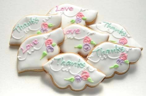 天使の羽根クッキー【アイシング クッキー デコ かわいい 焼き菓子 誕生日 バースデー プレゼント 贈り物 ギフト お祝い】の画像2枚目