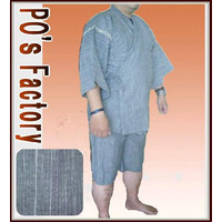 メンズ甚平【しじら銀糸・鼠色】2012  サイズあり  jinbei ジンベイ::1587【メンズファッション】記念日向けギフトの通販サイト「バースデープレス」