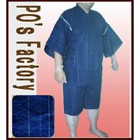 メンズ甚平【しじら銀糸・藍色】2012  サイズあり jinbei・じんべい::1587【メンズファッション】記念日向けギフトの通販サイト「バースデープレス」