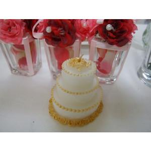 ウエディングケーキ型キャンドル★ゴールド::1587【バッグ・小物・ブランド雑貨】記念日向けギフトの通販サイト「バースデープレス」