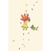 ポストカード 『おちば』::1587【バッグ・小物・ブランド雑貨】記念日向けギフトの通販サイト「バースデープレス」