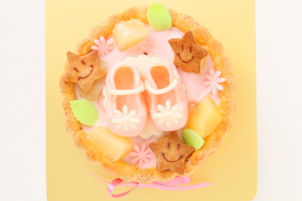 ファーストバースデーケーキ〜ヨーグルト+シューズ〜4号12cmの画像2枚目