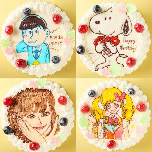 イラスト(キャラクター・似顔絵)ケーキ4号12cm