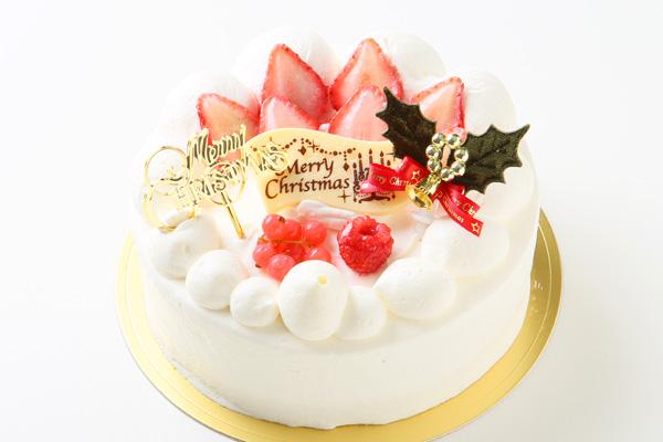 【クリスマスケーキ2016】みんな大好き生クリーム苺デコレーション 5号サイズ