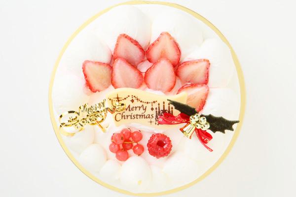 【クリスマスケーキ2016】みんな大好き生クリーム苺デコレーション 5号サイズの画像2枚目