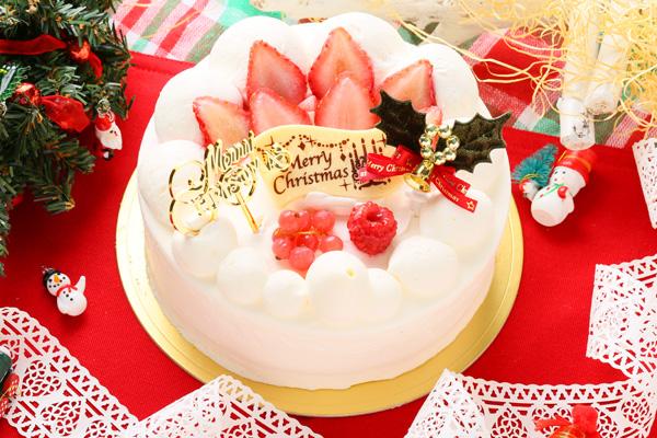 【クリスマスケーキ2016】みんな大好き生クリーム苺デコレーション 5号サイズの画像6枚目